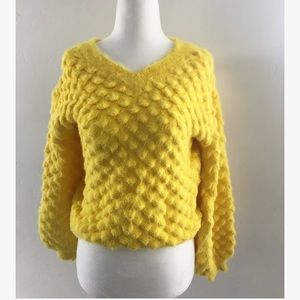 Andre New York Yellow V Neck Sweater